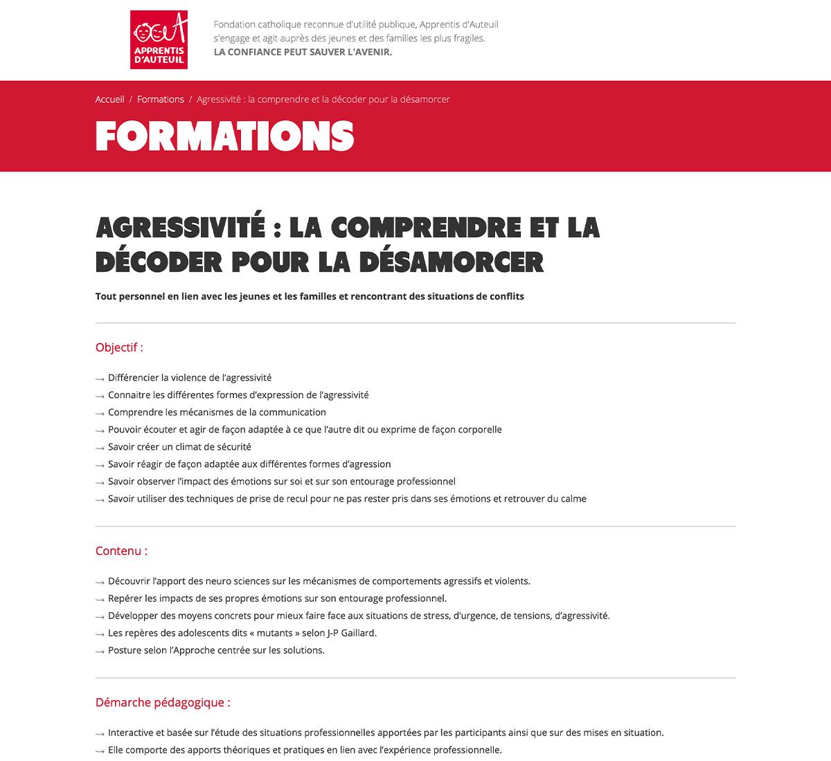 Apprentis Auteuil formation